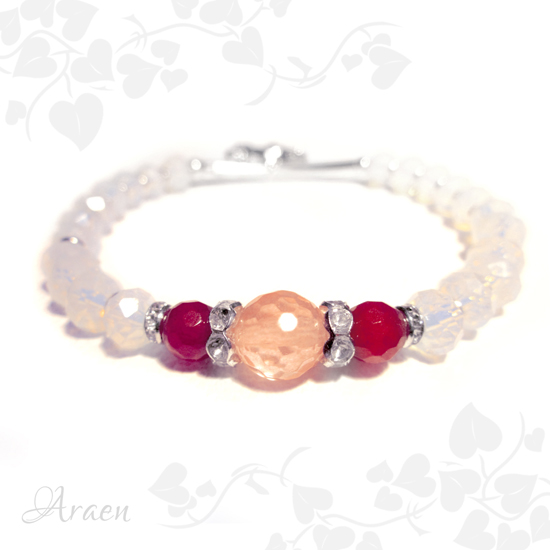 rubin turmalin opalit karkötő ruby watermelone tourmaline bracelet 3